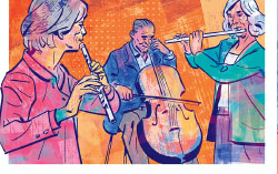 drawing of retired faculty musicians